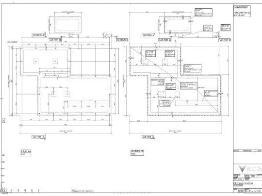 Konstruktionsritning Villcon
