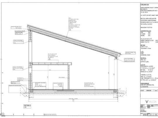Villcon Referensprojekt - Nybyggnad - Konstruktionsritningar - Nybyggnad av bostadshus, sedumtak och isoblock 2